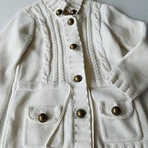 CC. Bates Shirts & Tops - Cream button down sweater